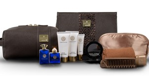 Oman Air First Class amenities travel and comfort kit