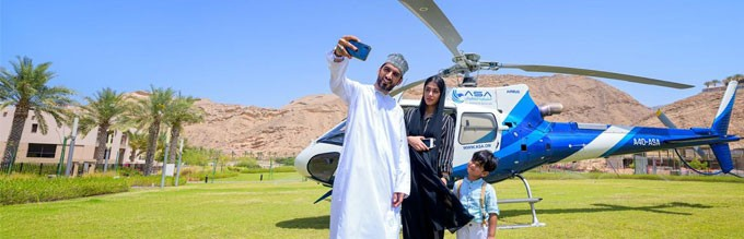 Oman Helicopter tour